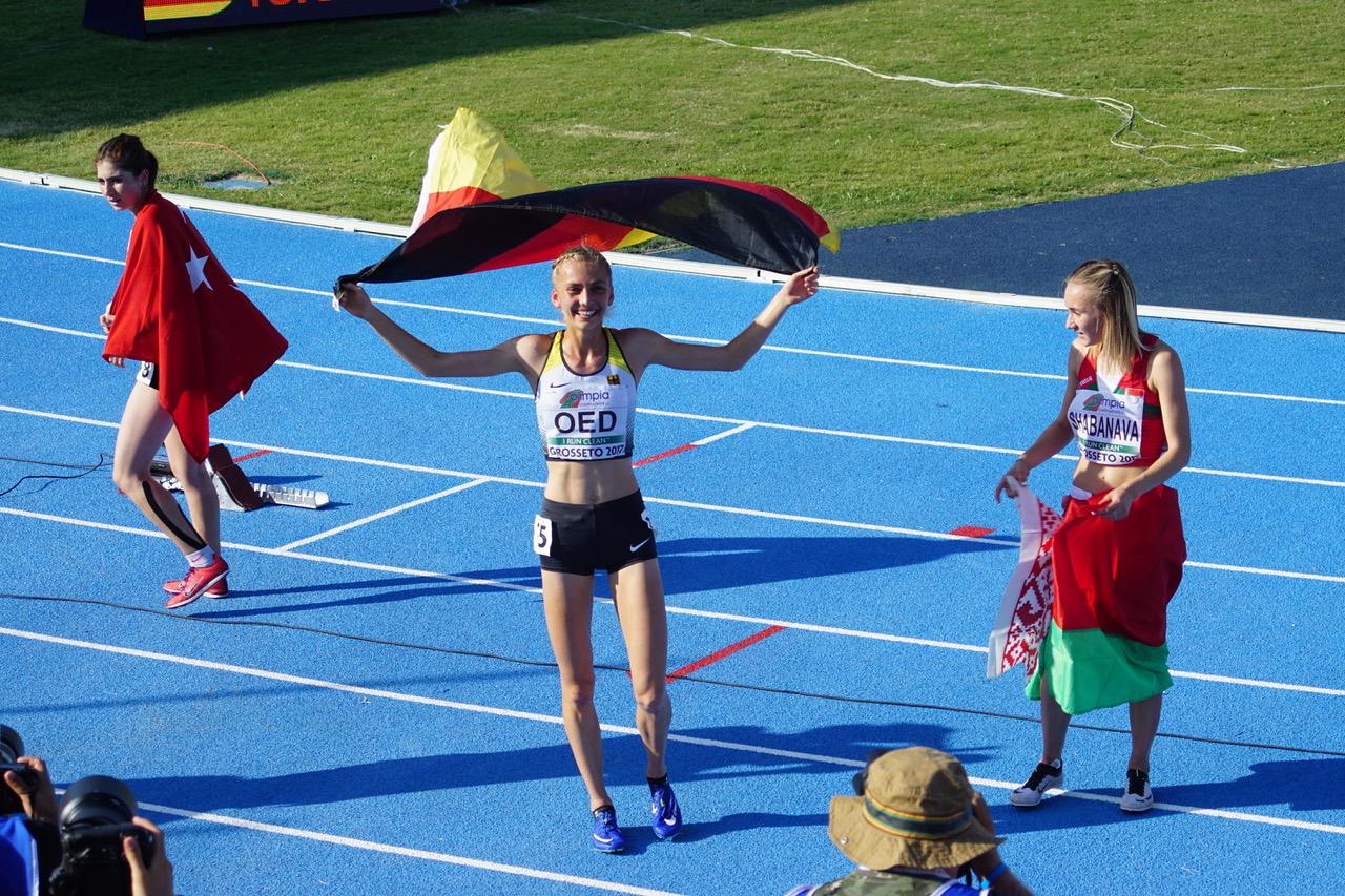 U20-EM: Lisa Oed gewinnt Titel über 3000 Meter Hindernis