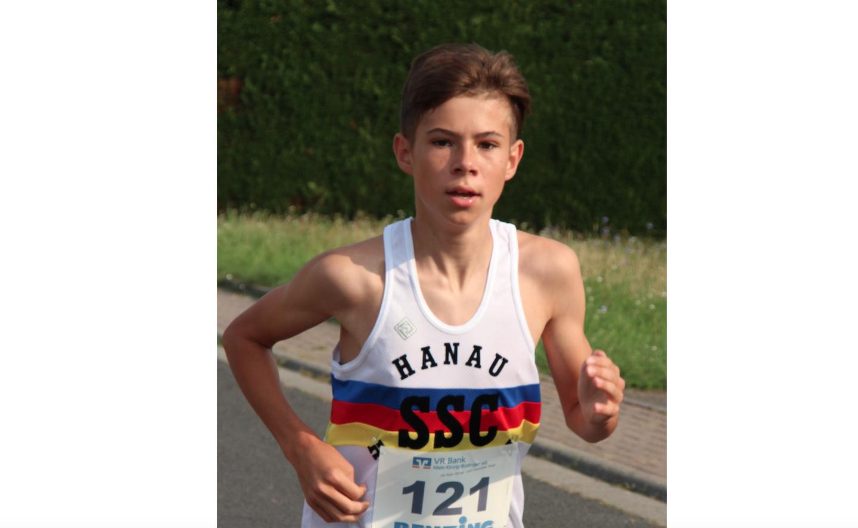 Tristan Kaufhold läuft Hessenrekord